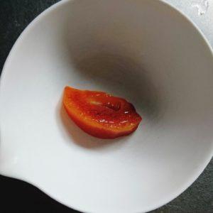 柿を冷蔵庫で解凍