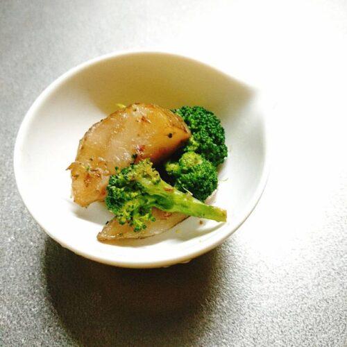 菊芋とブロッコリー炒め